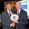 David Vaughan accepted the Corporate Partner award from John Staedke, Meals on Wheels of Metro Tulsa Board President.